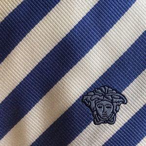 Versace striped tie 100% Silk